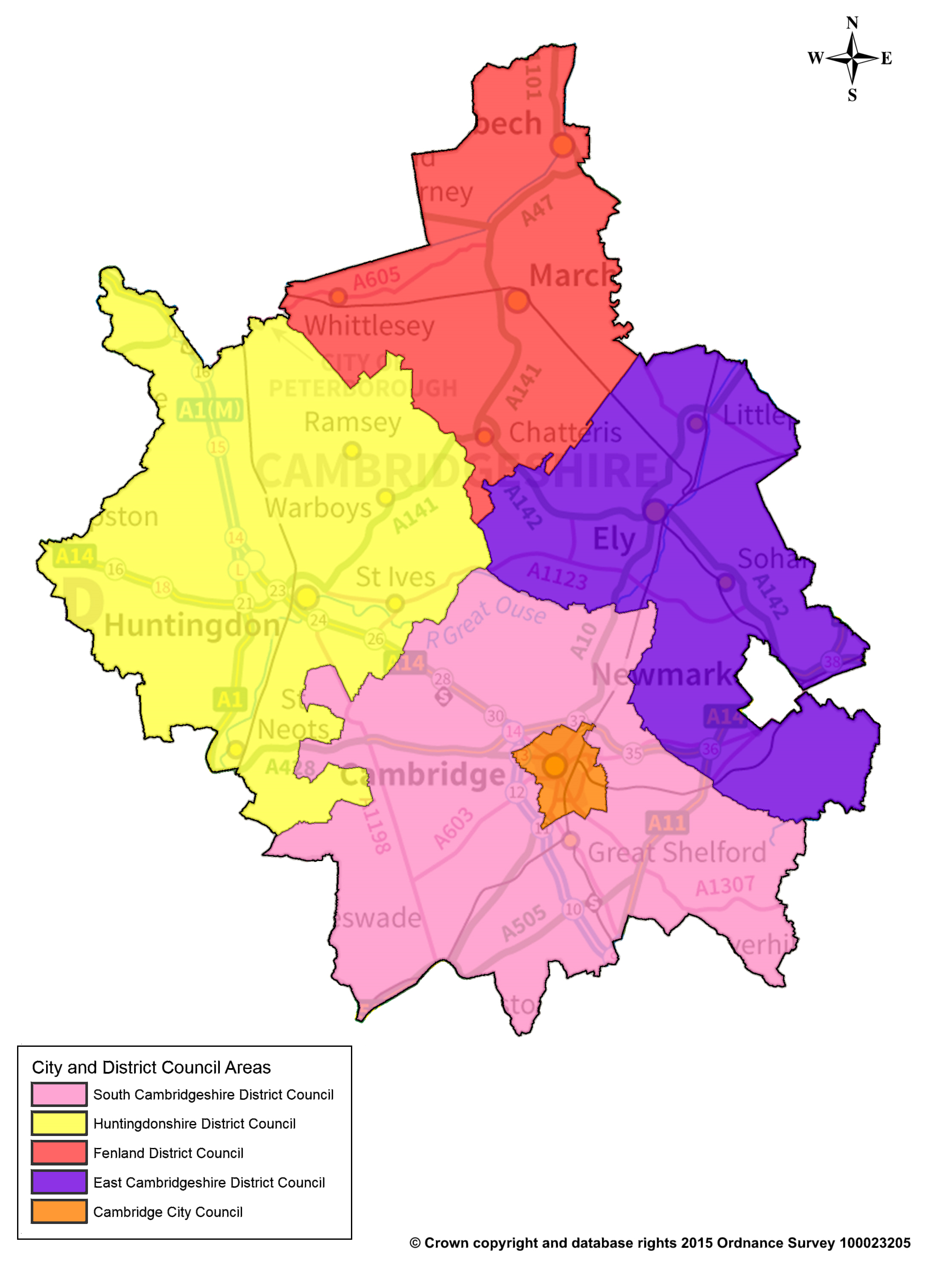 Map Of Uk Councils.Map Of City And District Councils Boundary Area